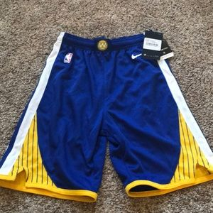 Boys Golden State Warriors Nike shorts M 10-12 NWT